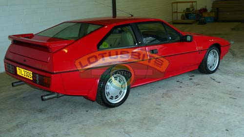 lotus excel se 1987 calypso red for sale only 59 000 miles   sold